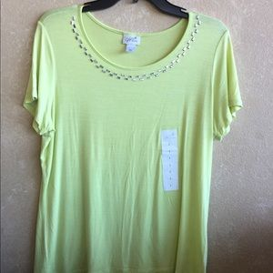 Large NWT green Jaclyn Smith shirt